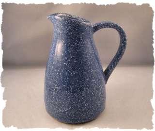 Vintage Dansk Blue White Granite Terra Cotta Pitcher