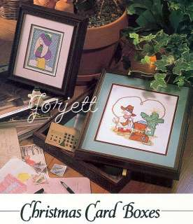 Christmas Card Boxes cross stitch patterns