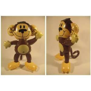 Brown MONKEY Jungle Zoo Animal INFLATABLE Blow Up Kid Toys Party Favor