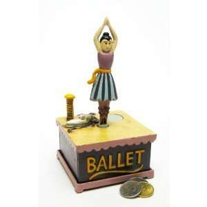 Antique Replica Dancer Collectors Die Cast Iron Mechanical Coin Bank