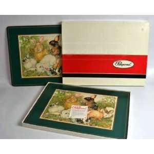 Pimpernel VINTAGE English Rabbits Placemats, Set of 4 X