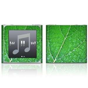 Apple iPod Nano (6th Gen) Skin Decal Sticker   Green Leaf Texture
