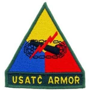 U.S. Army Armor USATC Patch Black & Yellow 3 Patio, Lawn