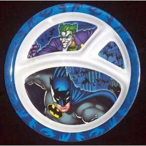Batman and Joker Divided Childrens Dinnerware Plate
