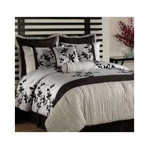 Piece Silver Black King Comforter Bed in a Bag Set