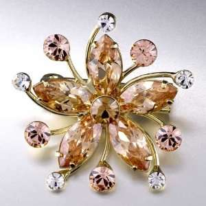 Big Flower November Birthstone Brooches And Pins Pugster Jewelry