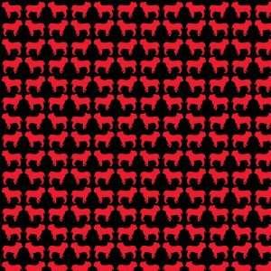 BULLDOG PATTERN BLACK & RED Vinyl Decal Sheets 12x12 x3