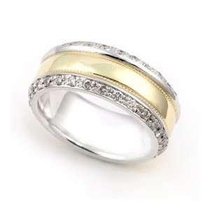 Gold Pave set Diamond Eternity Wedding Band Ring (G H/SI, 1 ct.), 9.5