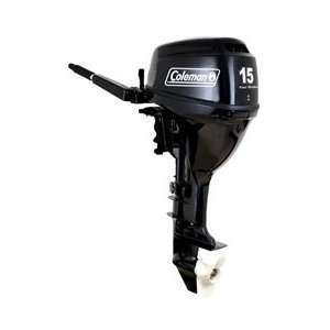 Coleman 15 HP Electric Start Outboard Motor Sports