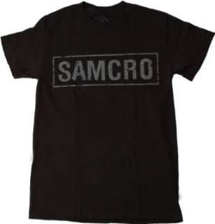 Sons of Anarchy Samcro Logo Black T shirt:  Clothing