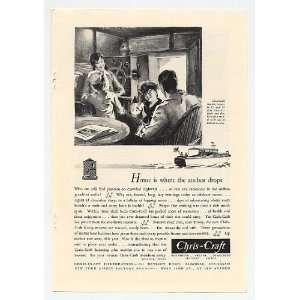1931 Chris Craft Family Cruisers Boat Print Ad (4711