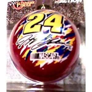 Nascar Red 24 Jeff Gordon Christmas Ball Ornament