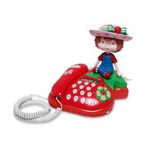 Strawberry Shortcake Corded Telephone with Doll Electronics