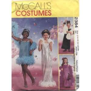 McCalls Costumes Girls Glamour Girl Sewing Pattern #2384