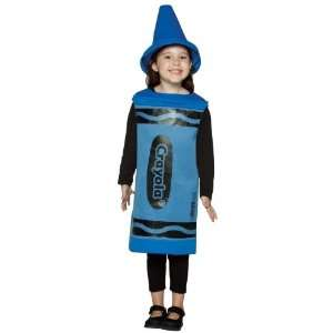 Crayola Crayon (Blue) Child Costume Size 4 6X: Toys & Games
