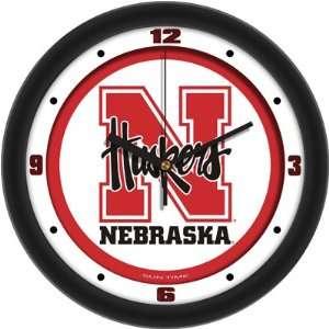 of Nebraska Cornhuskers 12 Wall Clock   Traditional