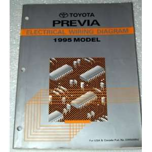 1995 Toyota Previa Electrical Wiring Diagram (TCR10 & 20