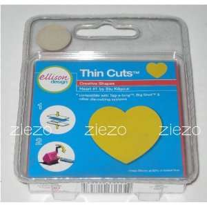 Ellison/Sizzix Thin Cuts Die Heart #1 22263 Arts, Crafts