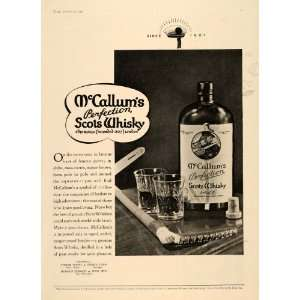 1934 Ad McCallums Scots Whisky Distillery Alcohol Drink