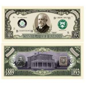 SET OF 100 BILLS BENJAMIN HARRISON MILLION DOLLAR BILL: Toys & Games