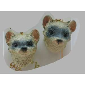 Ferret   Wildlife Figurine Jewelry   Post Earrings