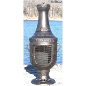 Venetian Chiminea Outdoor Fireplace in Gold: Patio, Lawn & Garden