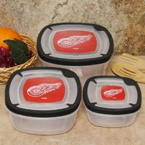 RED Wings Plastic Food Storage Container Set 3p Sports & Outdoors