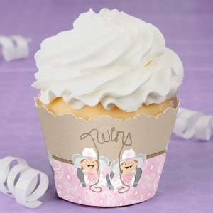 com Twin Little Cowgirls   Baby Shower Cupcake Wrappers Toys & Games