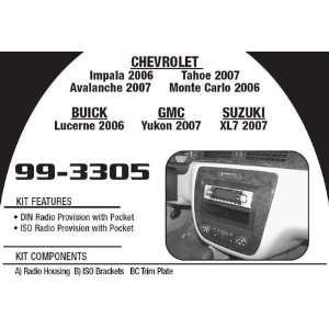 Metra 99 3305 06 07 Gm/chevy/gmc/buick/suzuki Single Din with Pocket