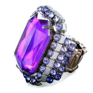 Colored Faceted Amethyst Stretch Ring West Coast Jewelry Jewelry