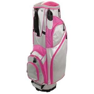 Hunter Ladies Envy Golf Cart Bags   GreyWhiteFuchsia