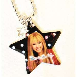 Hannah Montana Black & Pink Star Charm Necklace