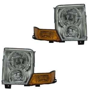 06 09 Jeep Commander Headlights Headlamps Head Lights W/Corner Lamps
