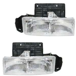 GMC Safari Headlights Headlamps Head Lights Lamps Pair Set Automotive
