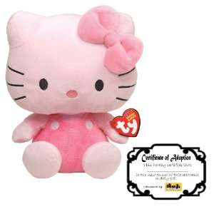 Hello Kitty Beanie Baby All Pink with Adoption Certificate