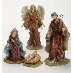 4 Piece Set Holy Family & Gloria Angel Christmas Nativity