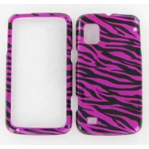 ZTE N860 (Warp) Zebra on Hot Pink Protective Case Cell