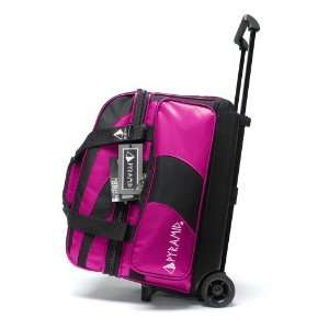 Pyramid Path Double Roller Black/Hot Pink
