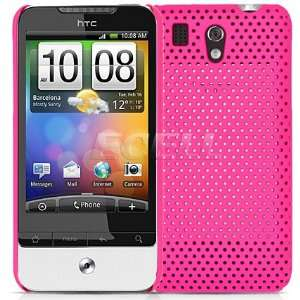 HOT PINK PERFORATED MESH CASE COVER FOR HTC G6 LEGEND Electronics
