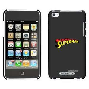 Superman Logo on iPod Touch 4 Gumdrop Air Shell Case: Electronics