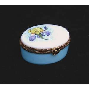 Iris Flower Ltd Edition French Limoges Box