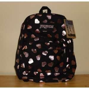 JanSport SuperBreak Backpack   Black Pink Gold Foil
