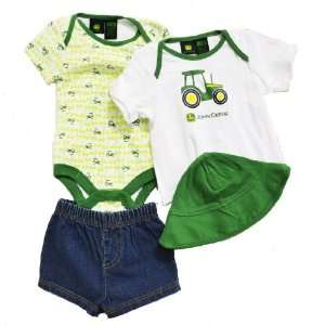 John Deere Tractor Infant 4 Pc. Clothing Set ~ 3 6 Mo