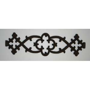 Antiqued iron wall grill