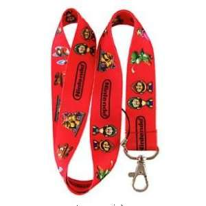 Red Super Mario Bros. Keychain Lanyard
