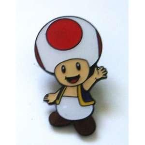 Nintendo Super Mario Toad Metal Pin Badge ~Wii ~