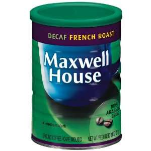 Maxwell House Coffee French Roast Decaf Ground Medium Dark   12 Pack