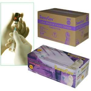 Sunnycare #6600 Latex Medical Exam Gloves Powder Free Size X small