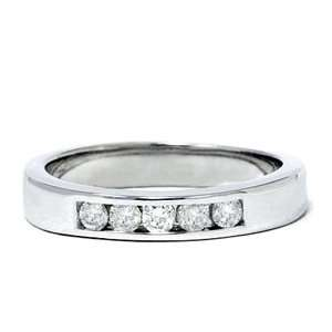 .30CT Mens 14K White Gold Diamond Wedding Ring Band Jewelry