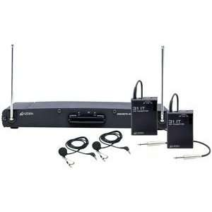 221LT 2 CHANNEL VHF, WIRELESS LAPEL MICROPHONE SYSTEM Everything Else